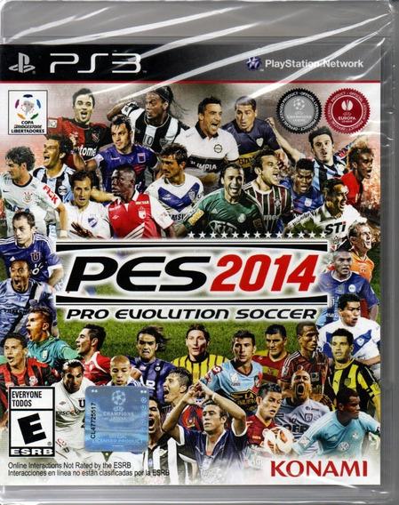 Pes 2014 Pro Evolution Soccer Ps3 Novo Lacrado Midia Fisica