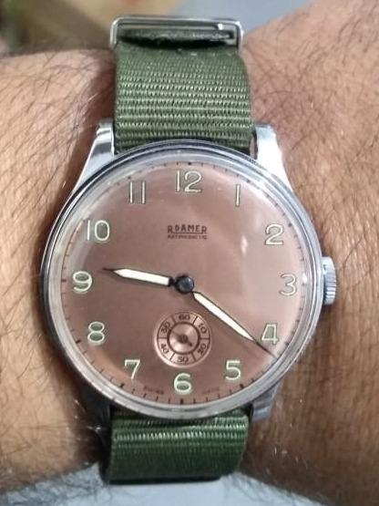 Relógio De Pulso Antigo Roamer Revisado Frete Grátis