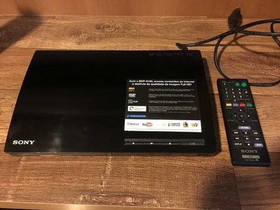 Aparelho Dvd Blu Ray Player Sony Bdp S 190 Com Brinde Filme!