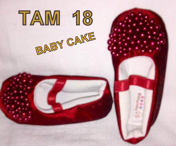 Sapatilha Baby Cake Tecido Sem Uso Tam 18