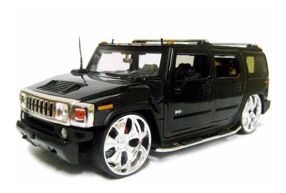 Hummer H2 1:24 Preta Jada Toys Time Controle Playstation