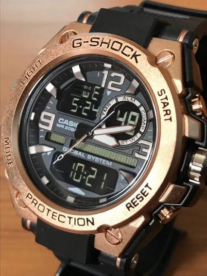 Relógio G-shok Steel Ferro Rosê (lançamento Pronta Entrega)