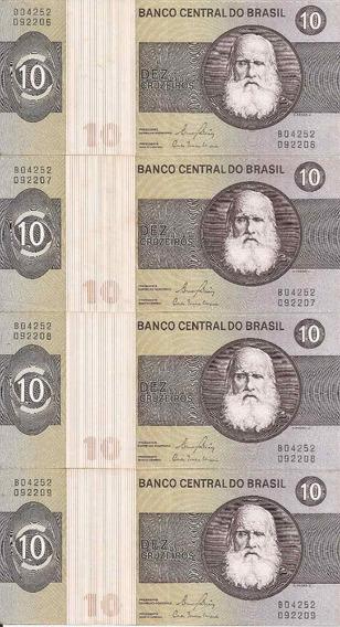 Cédula 10 Cruzeiros Série 4 Notas C M B * S * Série B04252