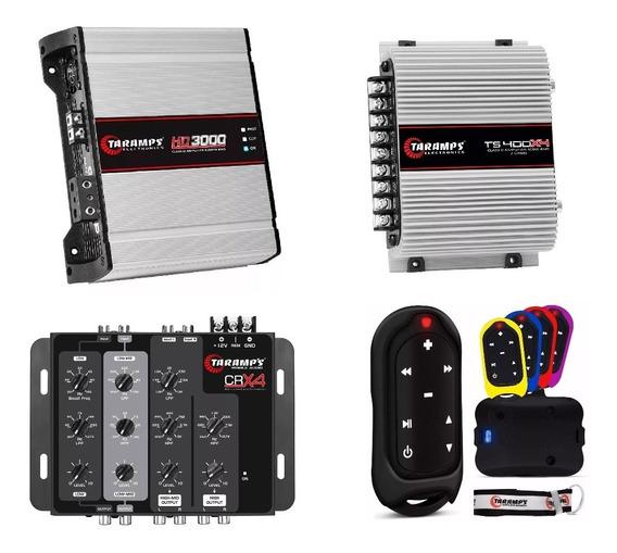 Amplificador Digital Hd3000 2 Ohms + Ts400 + Crx4 + Tlc3000