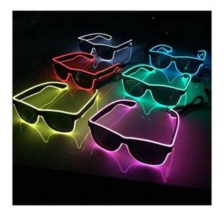 Óculos Neon Led Festa Balada Rave Tomorrowland A Pilha Top