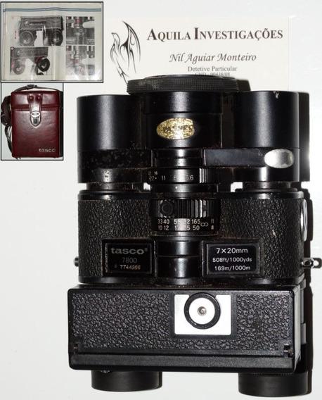 Binóculos Câmera Tasco 7800 Espião Espionagem 007 + Brinde