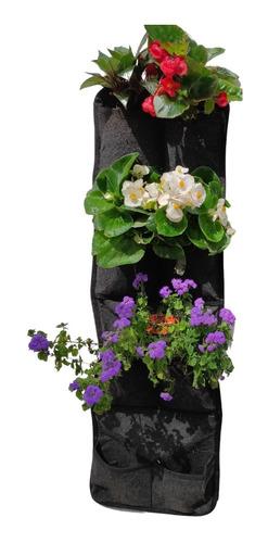 Jardin Vertical Reforzado 8 Bolsillos Para Huerta En Casa