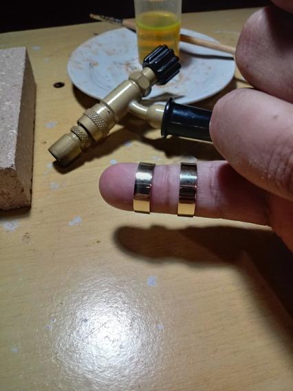 Aliança De Ouro 6mm Reta
