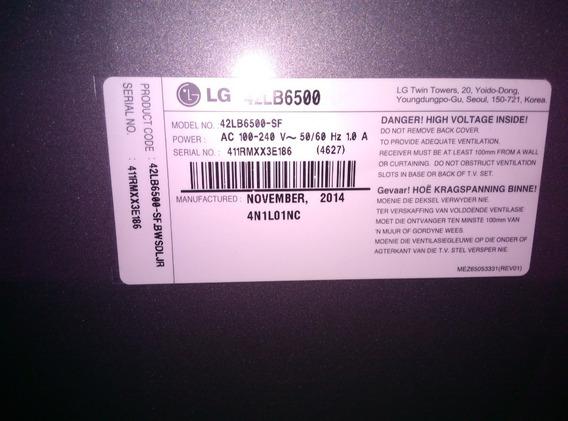 Tv LG Smart 42¨(42lb6500sf)full Hd 3d (dañado)