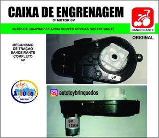 Caxa De Engrenagem Bandeirante Com Motor 6v/12ah