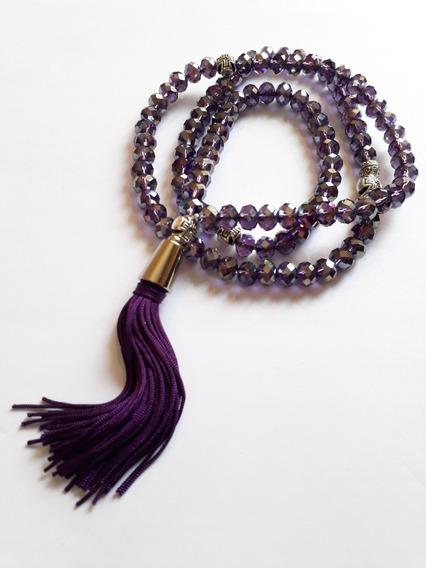 Japamala 108 Saint Germain Chama Violeta 7º Raio G F B Beads