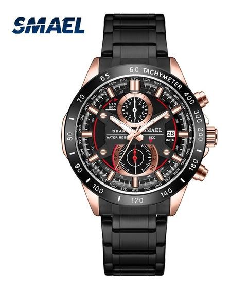Relógio Smael Sl-9064 Pulseira De Aço + Caixa + Frete Grátis