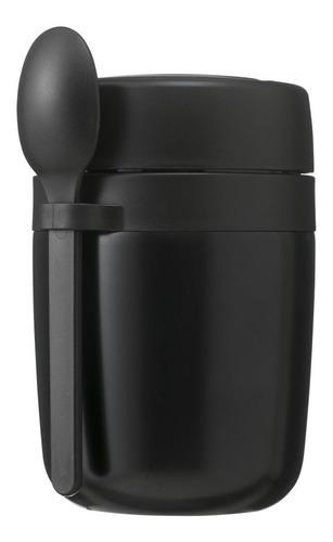 Imagen 1 de 1 de Taza De Sopa De Acero Inoxidable Negro Hema 400 Ml