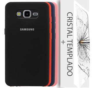 Silicone Cover Samsung Grand Prime Funda Case + Mica Cristal
