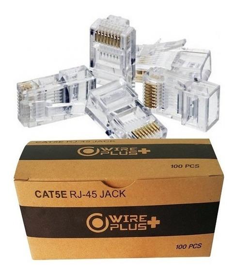 Conector De Red Rj45 Cat5e Wireplus (2 Cajas 100 Unidades)