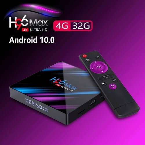 Convertidor De Tv A Smart Tv Box H96 Max Android 10