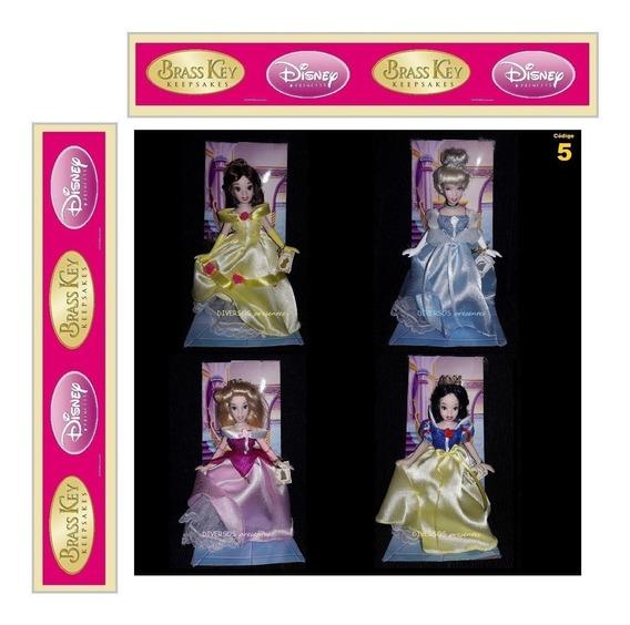 Boneca Branca De Neve Aurora Cinderela Bela Brass Key 2007