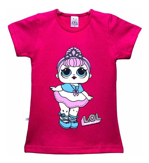 Kit 6 Camiseta Infantil Personagens Manga Curta + Brindes