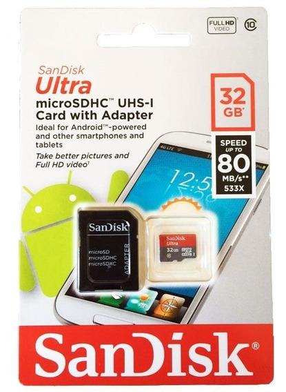 Cartão De Memória 32gb Ultra Sandisk Para Android