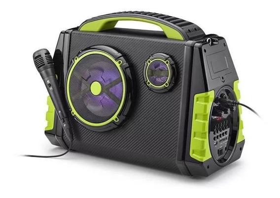 Caixa De Som Bluetooth A Bateria Amplificada120w Rms Sp280