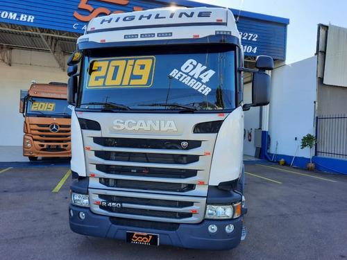 Scania R450 6x4 2019 - Highline / Teto Alto / Retarder
