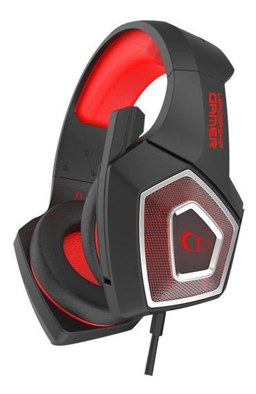 Headset Gamer Stereo Falcon Leadership Preto/vermelho