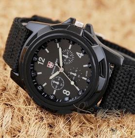 Relógio Masculino Pulseira Tecido Moda Militar Exercito