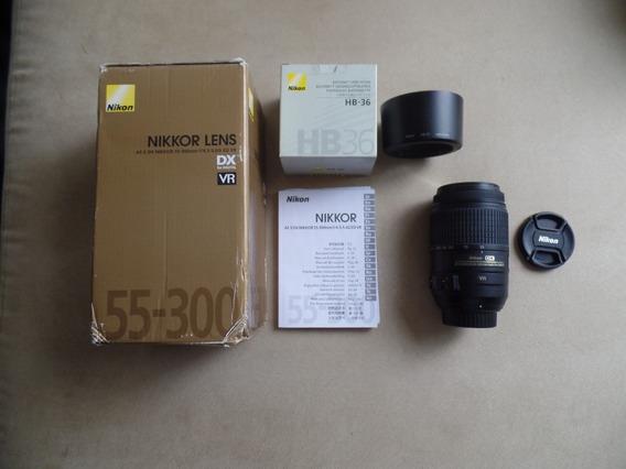 Objetiva Nikkor Dx 55-300mm Af-s Ed Vr