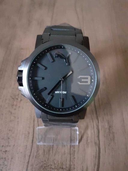Relógio Masculino Puma Em Aço Inox +caixinha
