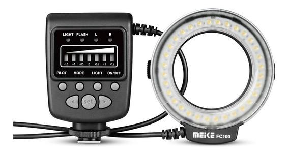 Flash Circular Ring Meike Fc100 Para Canon Nikon Universal