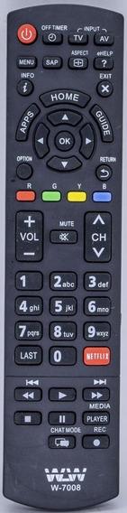 Kit 10un Controle Remoto Tv Panasonic Netflix Ref:wlw-7008