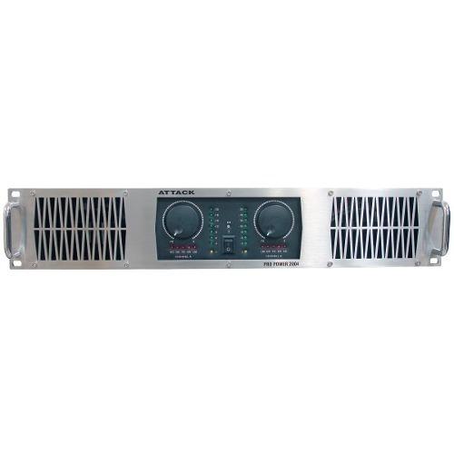 Amplificador Estéreo 2 Ch Pp 2004 2000w - Attack