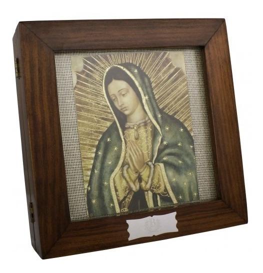 Estuche Cedro Virgen De Guadalupe(arras,charola Y Pastillero