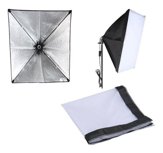 Softbox Sombrinha Iluminação Continua E27 - 60x60cm C/nfe