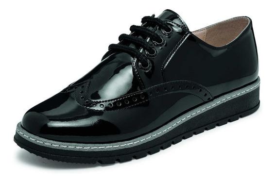 Zapato Escolar De Niña Color Negro Charol Cataleya 102