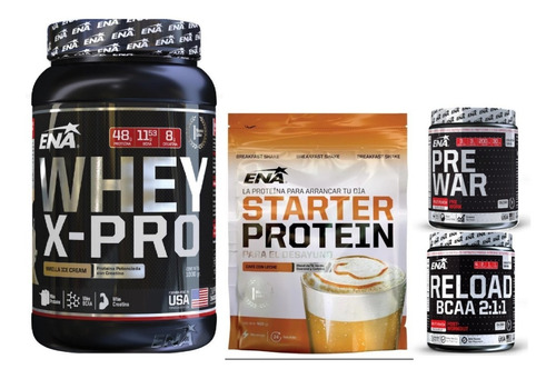 Combo:starter Protein+pre War+whey X Pro 1 Kg+reload Ena