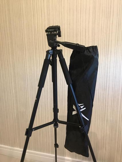 Tripé Universal Para Câmera Profissional 1,55m Com Bag