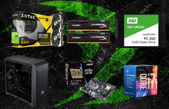 Pc Cpu Gamer I7 7700 / 16gb / Gtx 1060 6gb/ 1tb/ Ssd 120
