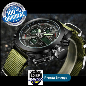 Relogio Militar Digital Golden Hour Pulso Lxbr R35
