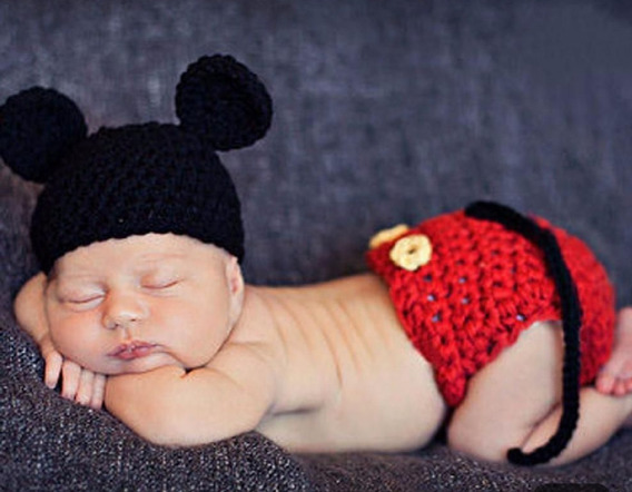 Mickey De Croche Newborn Para Fotos