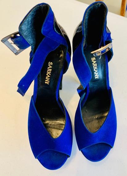 Zapatos De Fiesta Ricky Sarkany 100% Originales Azules T38!!