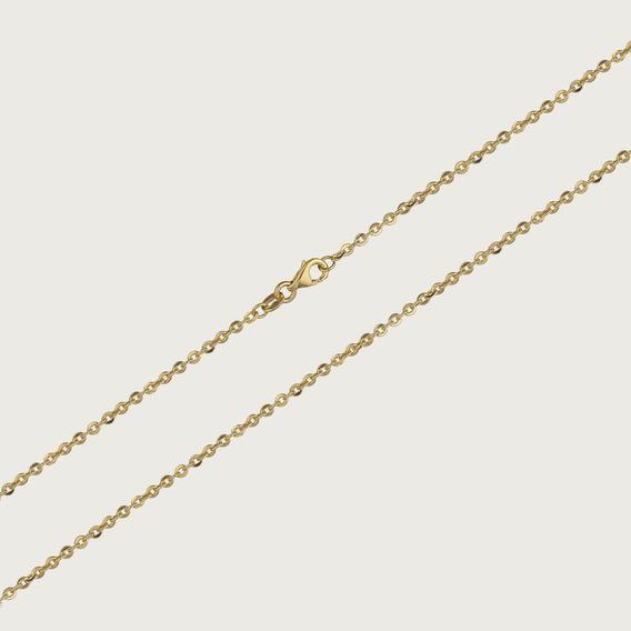 Cordão Cadeado Feminino Em Ouro 18k 45cm 1,0gr