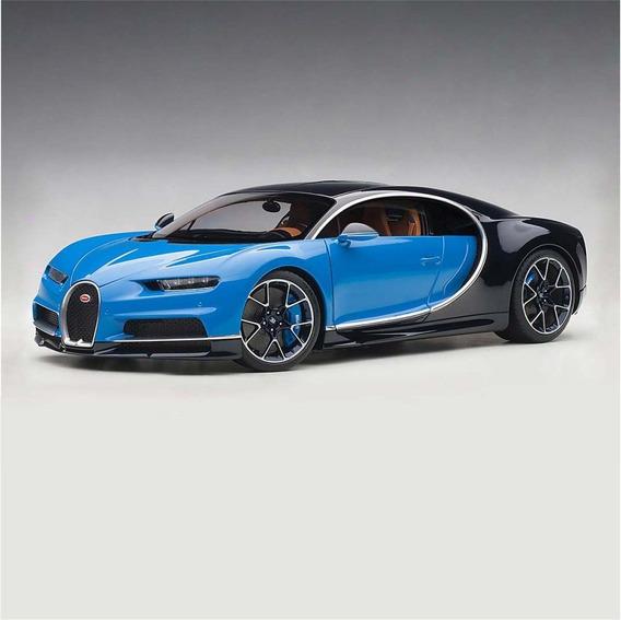 Miniatura Bugatti Chiron Blue 2017 1:18 Autoart