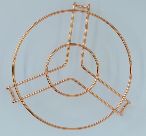 Descanso De Panelas Metal Rose Gold Kit C/3 Uni.