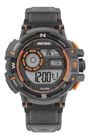 Relógio Masculino Mormaii Action Mo3231ac/8l Neoprene Cinza