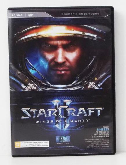 Jogo Pc/mac Em Cd Starcraft Ii Wings Of Liberty Ler Descriçã