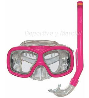 Equipo Snorkel + Mascara Junior Luneta Silicona Buceo