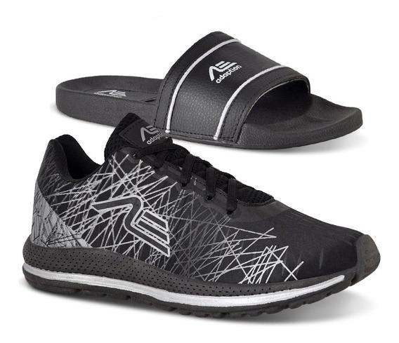 Tênis Masculino Caminhada + Chinelo Spider Promoção