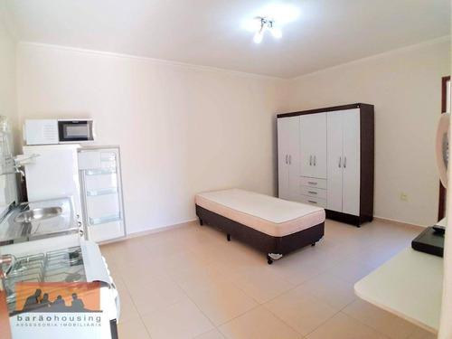Kitnet Com 1 Dormitório Para Alugar, 25 M² Por R$ 1.200,00/mês - Cidade Universitária - Campinas/sp - Kn0827