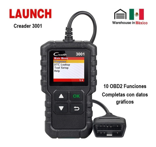 Escaner Launch Creader 3001 Automotriz Obd2 Multimarca Motor